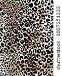 Stock vector leopard pattern design vector illustration background 1007251333