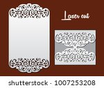 wedding invitation with lace...   Shutterstock .eps vector #1007253208