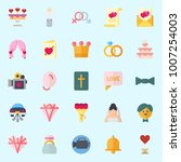 icons set about wedding. with... | Shutterstock .eps vector #1007254003