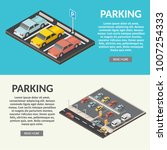 isometric parking space cars... | Shutterstock .eps vector #1007254333