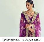 portrait of beautiful indian... | Shutterstock . vector #1007255350