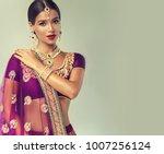 portrait of beautiful indian... | Shutterstock . vector #1007256124