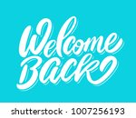 welcome back banner. | Shutterstock .eps vector #1007256193