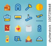 icon set about travel. with... | Shutterstock .eps vector #1007258668
