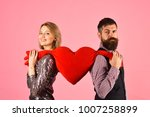 girl and bearded man with... | Shutterstock . vector #1007258899