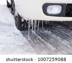 heavy snow becomes icy ... | Shutterstock . vector #1007259088