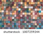 vintage colorful wood wall...   Shutterstock . vector #1007259244