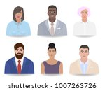 different job  portraits of... | Shutterstock .eps vector #1007263726