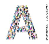 letter a  of people vector... | Shutterstock .eps vector #1007263954