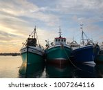 Fishing Trawlers Stationed At...