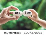 eggs with inscriptions father... | Shutterstock . vector #1007270038