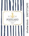 vintage creative card template... | Shutterstock .eps vector #1007272690