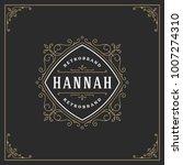 ornament logo design template... | Shutterstock .eps vector #1007274310
