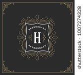 ornament monogram logo design...   Shutterstock .eps vector #1007274328
