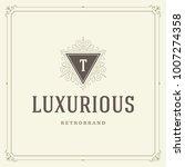 ornament monogram logo design... | Shutterstock .eps vector #1007274358
