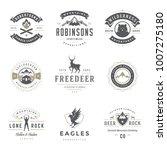camping logos templates vector...