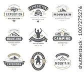 camping logos templates vector... | Shutterstock .eps vector #1007275276