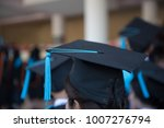 graduates wear graduation gowns ... | Shutterstock . vector #1007276794