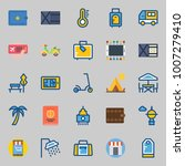 icons set about travel. with... | Shutterstock .eps vector #1007279410