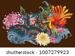 thai traditional tattoo design... | Shutterstock .eps vector #1007279923