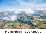 aerial view of village... | Shutterstock . vector #100728070