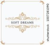 monogram creative card template ... | Shutterstock .eps vector #1007281090
