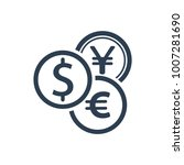 exchange money icon | Shutterstock .eps vector #1007281690