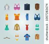 icon set about clothes and...   Shutterstock .eps vector #1007282674