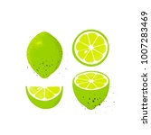 collection of limes  isolated... | Shutterstock .eps vector #1007283469
