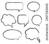 speech bubble set  vector... | Shutterstock .eps vector #1007283640
