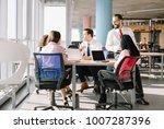 luxury office with modern... | Shutterstock . vector #1007287396