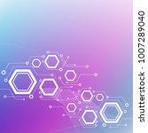 minimal design  the hexagonal... | Shutterstock .eps vector #1007289040