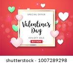valentines day sale vector... | Shutterstock .eps vector #1007289298