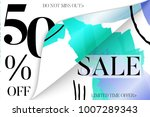 sale advertisement banner on... | Shutterstock .eps vector #1007289343