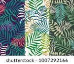 set of three seamless floral... | Shutterstock .eps vector #1007292166