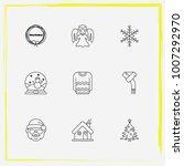 christmas line icon set sweater ... | Shutterstock .eps vector #1007292970