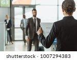 businesswoman waiting for... | Shutterstock . vector #1007294383