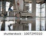 construction worker produces... | Shutterstock . vector #1007295310