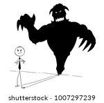 cartoon stick man drawing... | Shutterstock .eps vector #1007297239