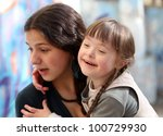 happy family moments   mother... | Shutterstock . vector #100729930