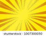 pop art yellow background ... | Shutterstock .eps vector #1007300050