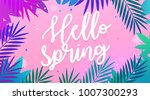 palm leaves background and... | Shutterstock .eps vector #1007300293