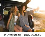 two friends taking a selfie... | Shutterstock . vector #1007302669
