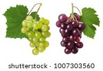 set ripe bunch green and red... | Shutterstock . vector #1007303560