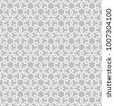 seamless pattern with hexagonal ... | Shutterstock .eps vector #1007304100