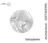 abstract topographic vector map ... | Shutterstock .eps vector #1007305990