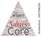 vector conceptual core values... | Shutterstock .eps vector #1007306230