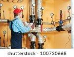 maintenance repairman engineer... | Shutterstock . vector #100730668