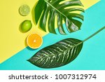 tropical colorful summer design ... | Shutterstock . vector #1007312974