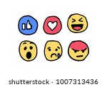 hand drawn social media... | Shutterstock .eps vector #1007313436